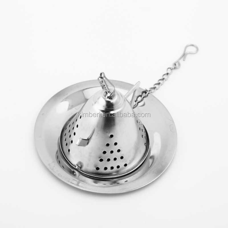 Passed food grade FDA or LFGB good quality stainless steel tea kettle style infuser