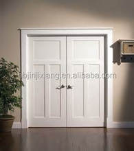 2 panel custom wooden doors double swing interior kitchen room door