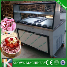 Factory supply can reach -35 2 pan with 11 cooling tanks durable egypt rolled fry ice cream machine