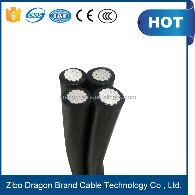 4x16mm2 XLPE/PVC insulated ABC cable Aerial bundled overhead cable price