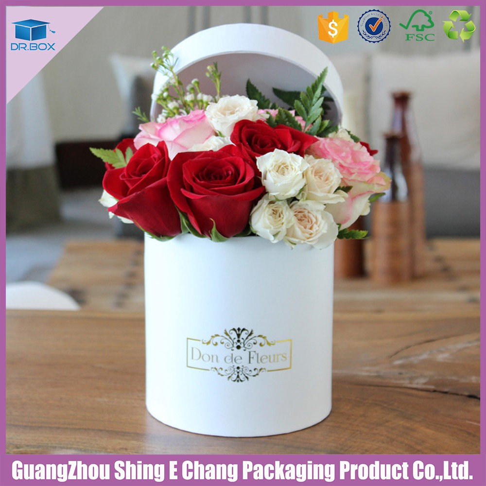 Romantic round shaped wedding party hat box for flowersround luxury round hat box for flowers izmirmasajfo