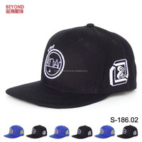 China factory acrylic wool blended flat peaked snapback caps hats