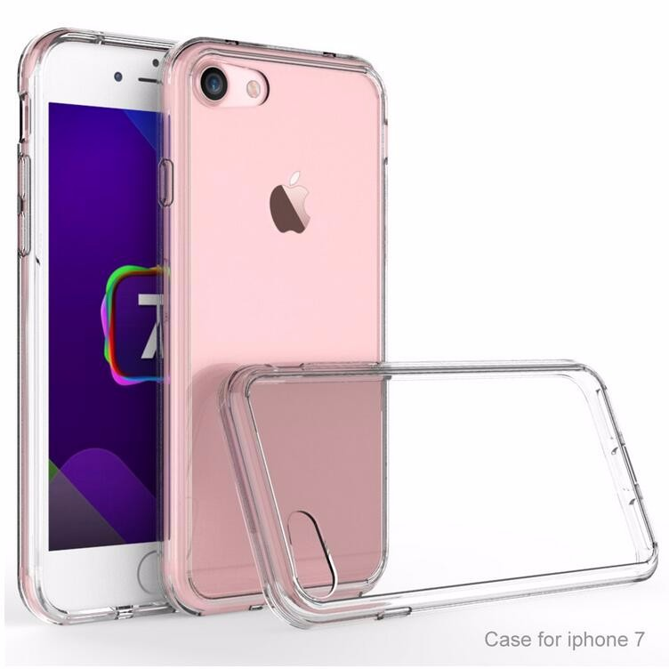 BRG 2016 Trending Products for Apple iPhone 7 Soft TPU Bumper + Hard PC Back Hybrid Clear Case, for iPhone7 Cover