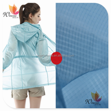100% nylon waterproof ripstop breathable Transparent jacket fabric