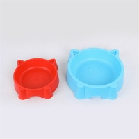 H204 dog shaped pet food bowl plastic bowl for cats and dogs plastic feeding bowl