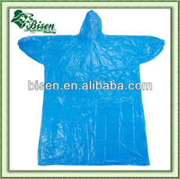 Cheap adult pocket pvc raincoat