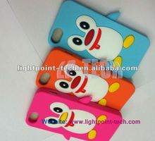 Silicone Smartphone Cover,3d cute Penguin Case for iPhone 5 5G