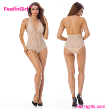 Wholesale Sexy Women Babydoll Sheer Harness Teddy Lingerie