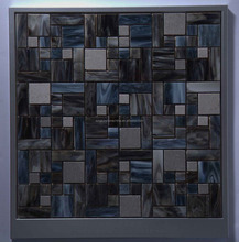 Square Dark Blue Tiffany Mosaic Tile Wall Floor Glass Mosaic Tile