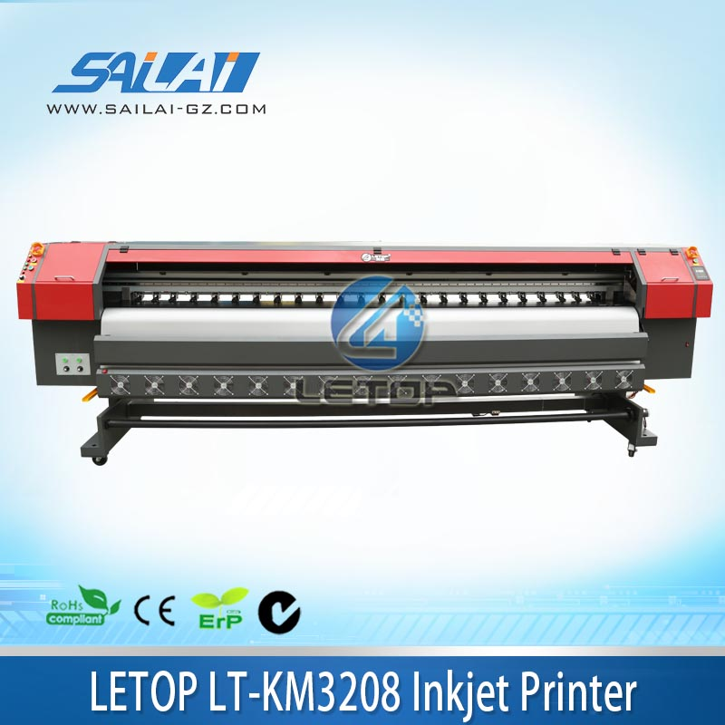 High resolution!!!3.2m/8 head/1440dpi/konica KM512i head printing machine