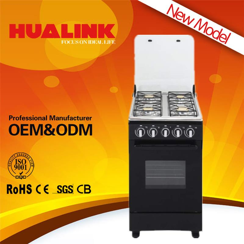 H-50AB03 white color gas cooker in dubai freestanding installation gas cooking range with oven