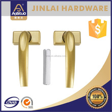 popular style zinc alloy window handle lockable, removable handle lock,casement window lock handle