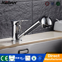 Single handle modern chrome color kitchen taps brass pull out sink mixer faucet for kitchen