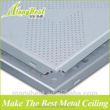 600*600 Square Decorative Aluminum False Ceiling Designs