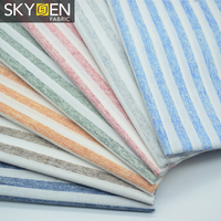 Wholesale Ready Stock 100% Cotton Woven Stripe Shirt Fabric for Men
