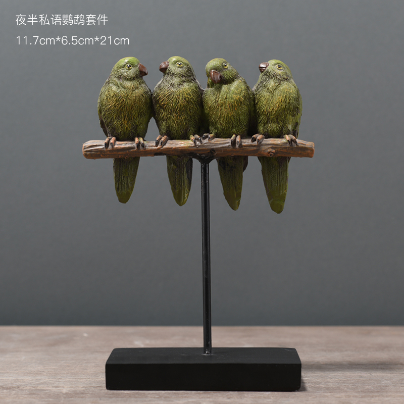 Home decor crafts Resin Parrot Statue