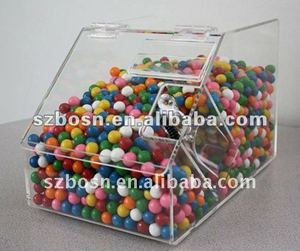 Acrylic Candy Bin/ Lucite Candy Box/ Plexiglass Candy Storage