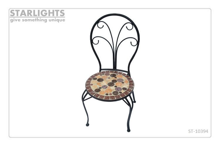 Dining Room Mosaic Chairs Strong Modern Metal Folding Chairs