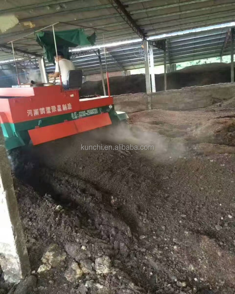 Small composting equipment windrow mixer machine/organic waste turner/organic waste turning machine with low price