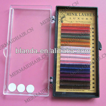 2013 NEWEST !!! natural color top quality real lashes eyelash extensions FOR SALE