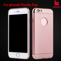 Black Ultra Protective Case Shock-Absorbing Hard Cases cover Soft silicone rubber painting for iPhone 6S Plus case