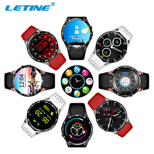High Level Sport Round Screen Android 5.1 Heart Reate Monitor GPS Support 3G Sim Card LC- KW88 Smart Watch KW8888