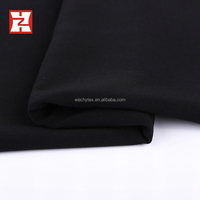 blackout lining fabric, jet black good dropping mechanical stretch woven abaya dress making fabric