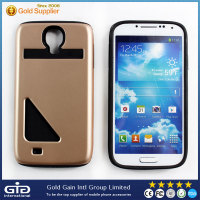 [GGIT] Cool Combination TPU PC Card Holder Cell Phone Case for Samsung For Galaxy S4 I9500