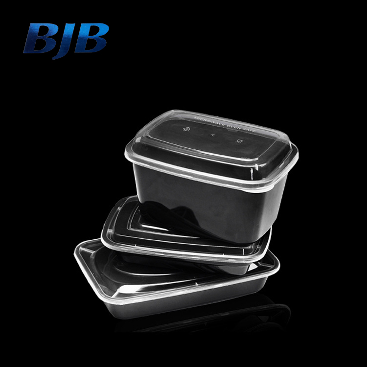 750ml transparent lid disposable plastic food container