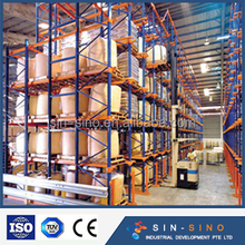 warehouse storage drive-in pallet racking system