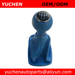 YUCHEN Car Shift Gear Knob Blue Leather Gear Gaslock Shift Knob For Audi A3 8L S3 2000-2003