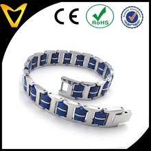 Wholesale Top Quality Cheap Men's Bracelet Bangle, Stainless Steel Rubber, Motorcycle Chain Bracelet