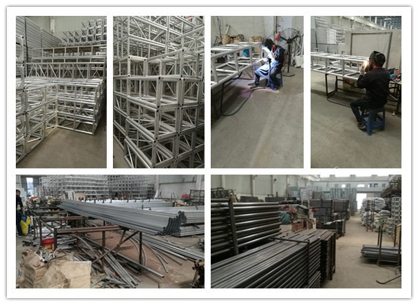 Most common aluminum stage truss 400*400mm spigot truss wedding stage lighting truss