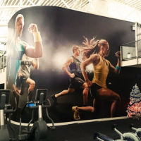 Self adhesive vinyl wrap pvc wallpaper for gym wall decoration