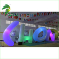 2016 Colorful Custom Decoration Inflatable Figure Model / Decoration Giant Inflatable Letters Lighting For Advertising