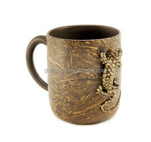 ceramic love cup factory custom directly from china guangdong brick mug with gecko animal