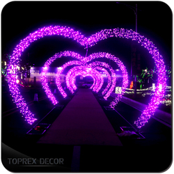 LED lights christmas decoration wedding heart arch