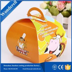 hot product embossed paper hole design salad paper box with window