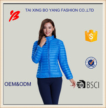 Boyang brand name customized winter down jacket for women