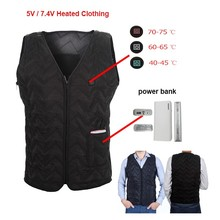 High Quality new years gift for men Ideas heated vest with Power Bank and USB