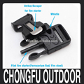 new products 2017outdoor sport survival kit fire starter whistle buckle for camping hunting pandora bracelet