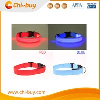Chi-buy Wholesale Flashing Dog Collar LED Nylon Pet Collars