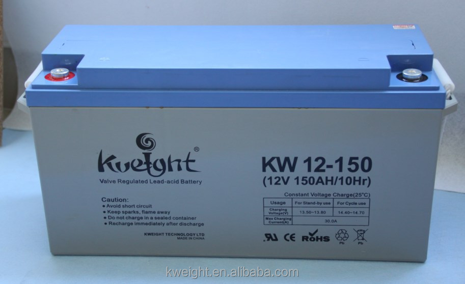 Professionally manufacturing lead acid battery 12v 150Ah VRLA battery for solar power system