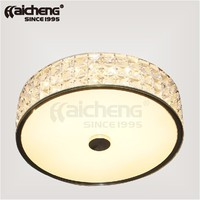 European style CE led ceiling glass lamp with crystals