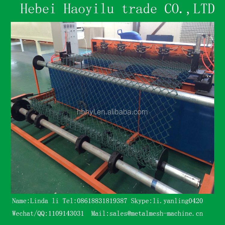 Full automatic PVC chain link fence machine