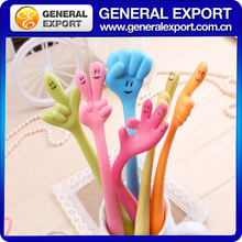 lovely smilling face flexible finger cartoon gesture korea lovely bending pen