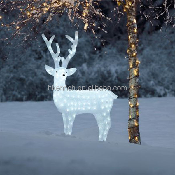 Christmas 120cm led light up acrylic reindeer outdoor for Outdoor light up christmas decorations