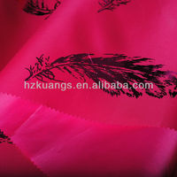190T printed polyester taffeta fabric/textile for clothing/dress/bag