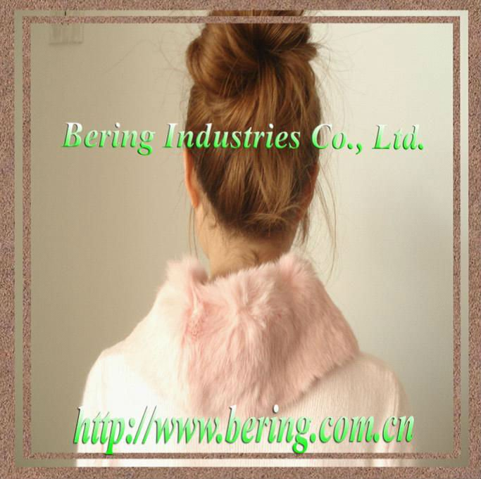 rabbit fur scarf/ collar