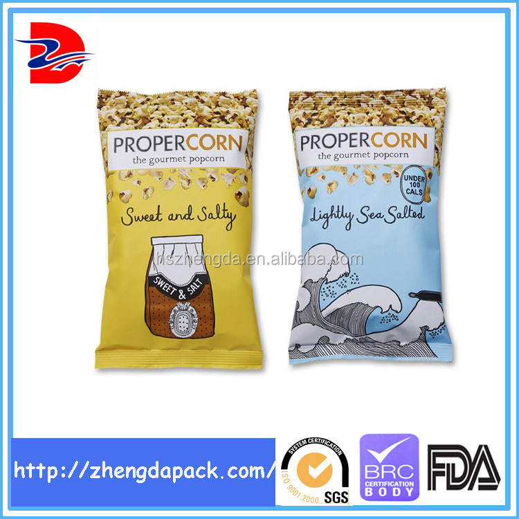 china supplier moisture proof plastic popcorn packaging bag